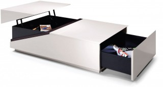 Modern White and Black Transformer Coffee Table