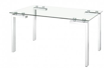 Roca Dining Table with Chromed Steel Legs