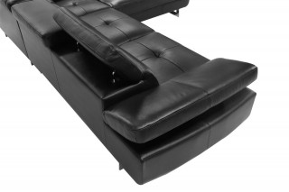 Advanced Adjustable Modern Leather L-shape Sectional