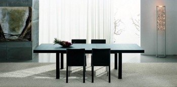 Dark Brown Contemporary Dining Table