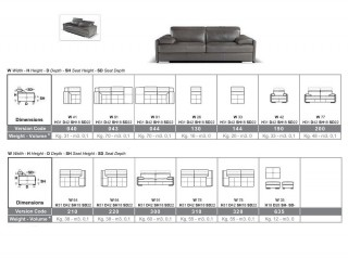 Contemporary Style Modern Genuine Italian Sectional