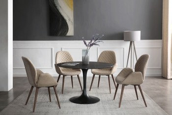 Modern Dining Table with Comfortable Side Chairs
