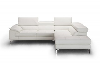 Unique Tufted Genuine Leather Sectional