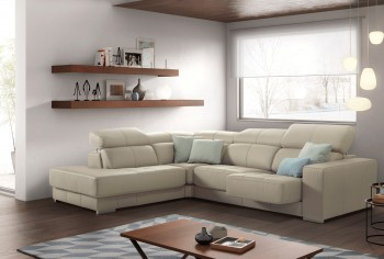 Graceful Leather Corner Sectional Sofa