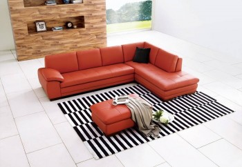 Advanced Adjustable Leather Sectional with Chaise