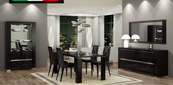 Extendable Leather Made in Italy Dining Room Design