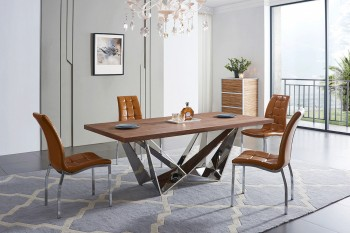 Comfortable Simple Contemporary Style Dining Set