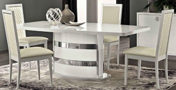Italy Made White Glossy Extendable Dining Table