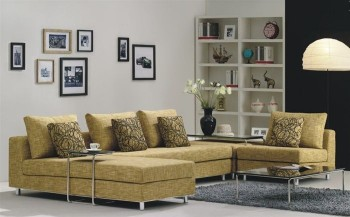 Unique Microsuede Fabric Sectional