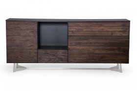 Modern 4 Doors Dark Aged Oak Buffet