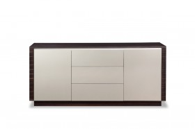 Spacious Grey and Oak Veneer Buffet