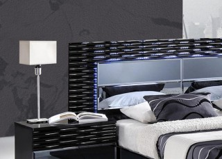 Lacquered Exclusive Quality Platform and Headboard Bed