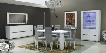 High-class Recatngular Top Microfiber Dinette Tables and Chairs
