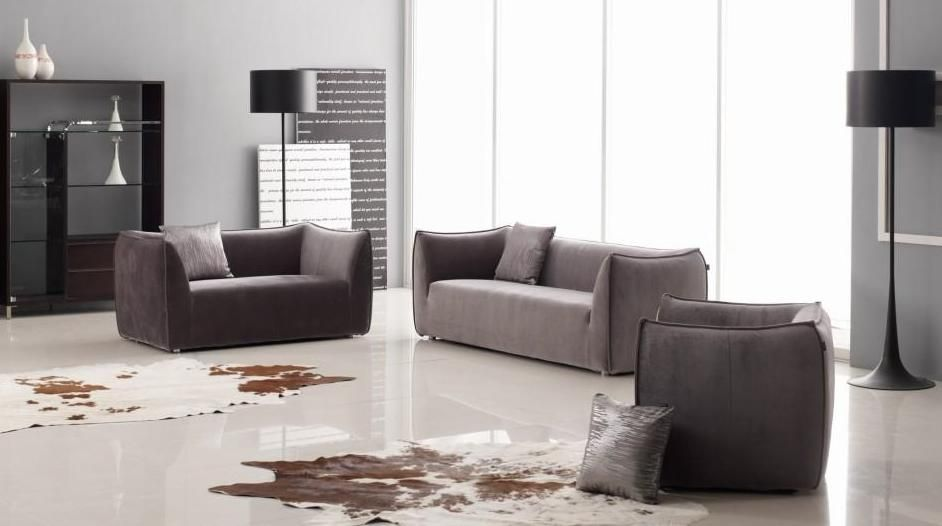Fabric Upholstered Sofas Living Room Furniture