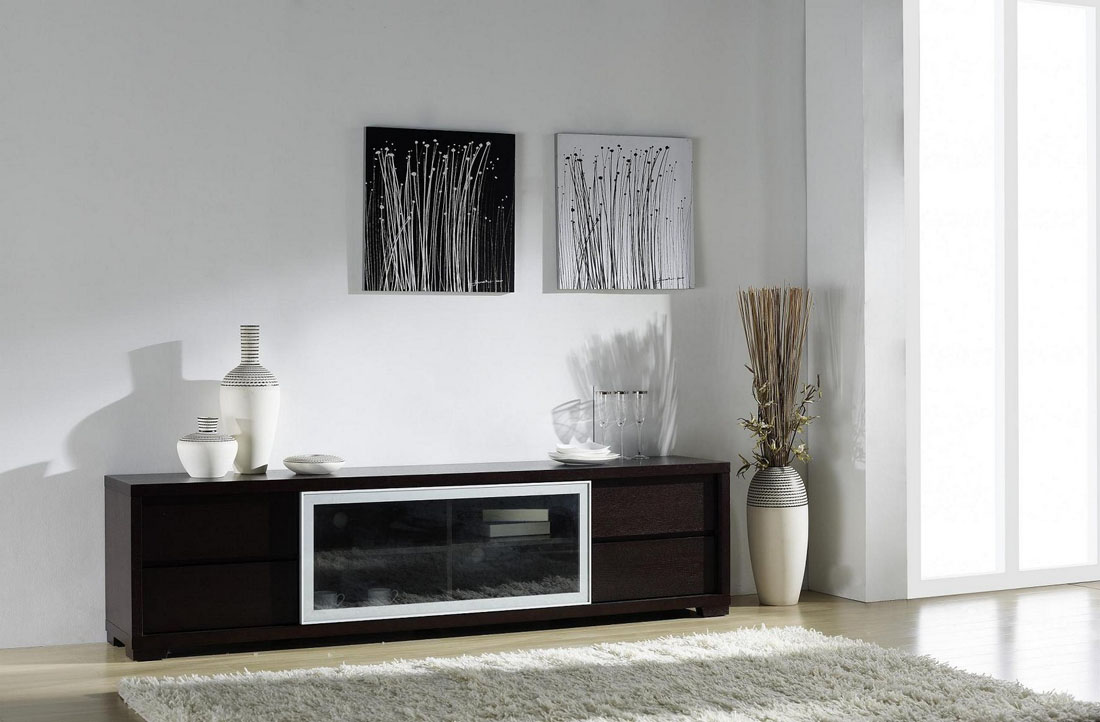 Ann Entertainment Unit with Movable Glass Doors and Drawers Baton Rouge Louisiana BHREFLEX