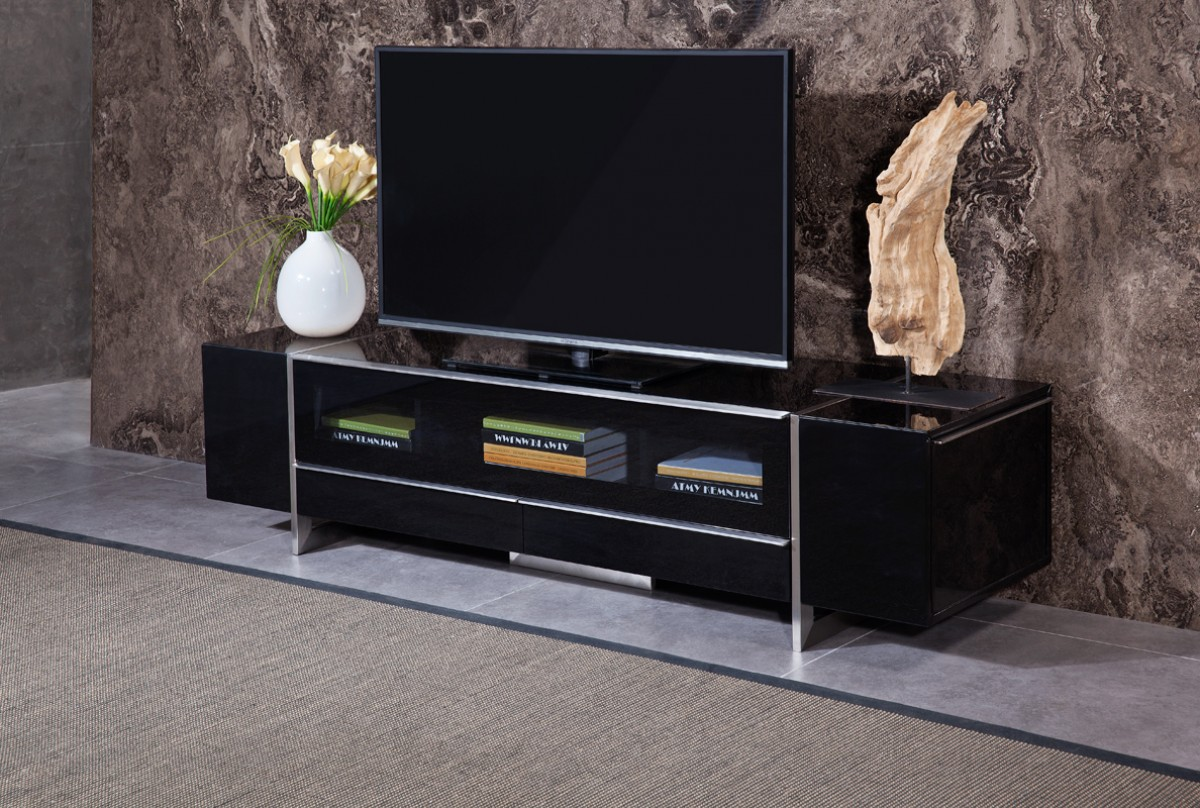 Black Lacquer Corner Tv Consoles With Storage Philadelphia