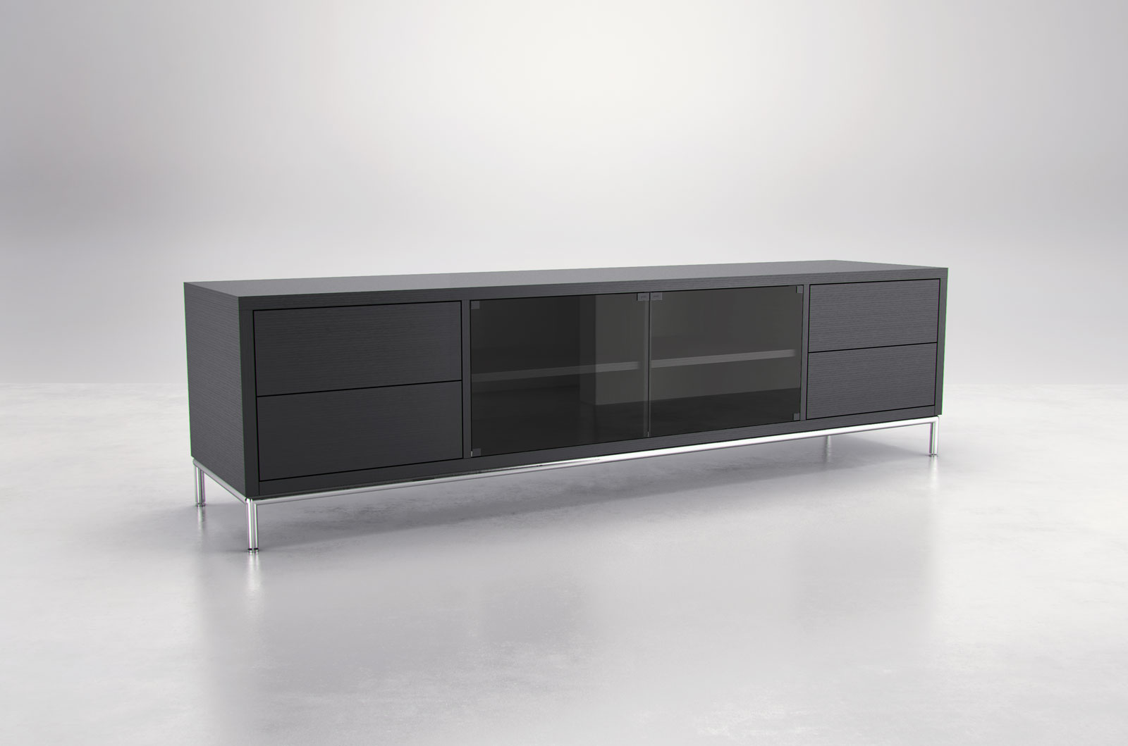 extra long contemporary tv entertainment unit with storage. Black Bedroom Furniture Sets. Home Design Ideas
