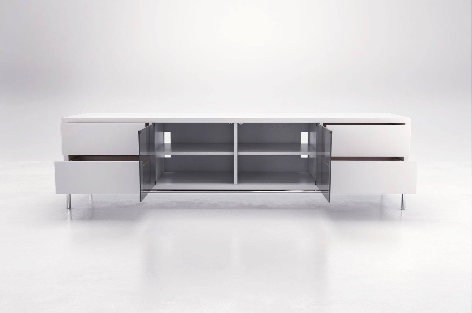 Superieur Extra Long Contemporary TV Entertainment Unit With Storage San Antonio  Texas MLLEN