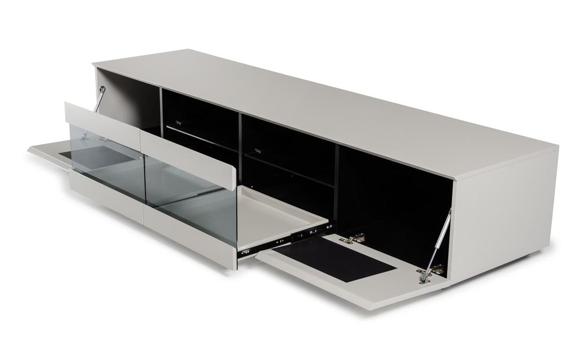 Tv Glass Shelves Small House Interior Design