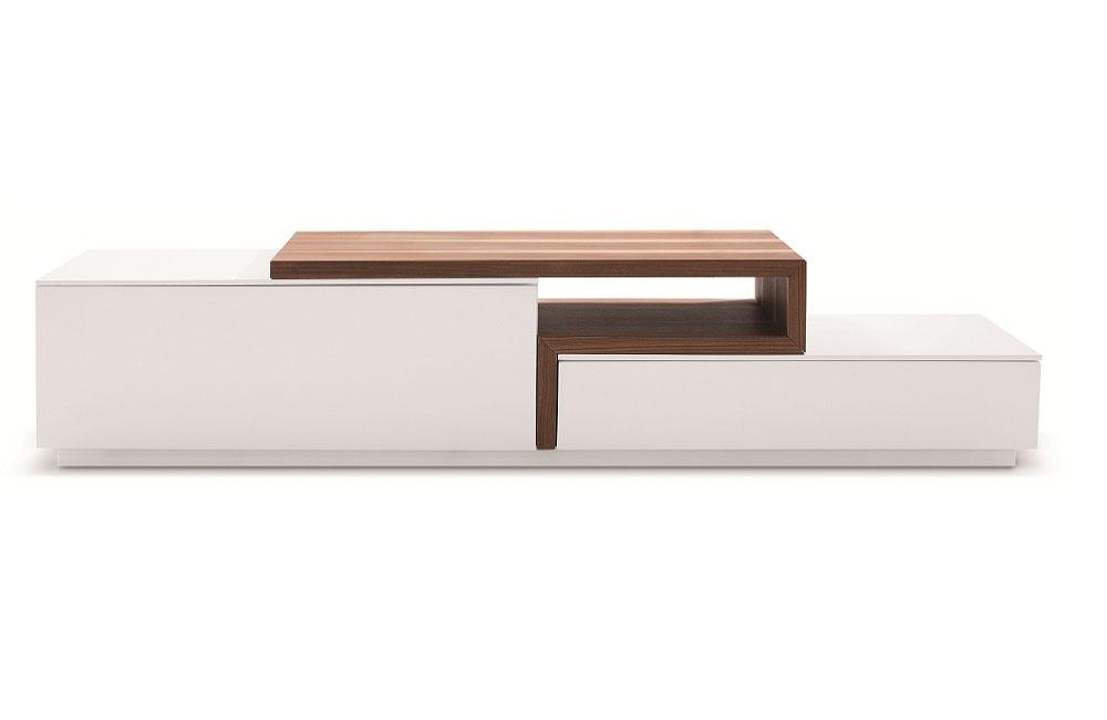 Contemporary Walnut Floating TV Stand Santa Rosa California J&M045 -> Table Tv Basse