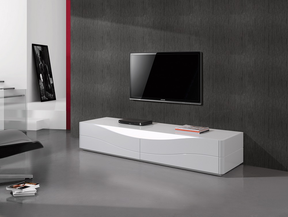 Popular Two Door Luxury Tv Stand With Led Light From
