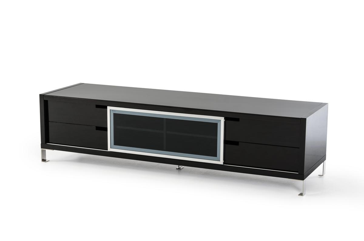 Contemporary Black Or White High Gloss Tv Stand Columbus