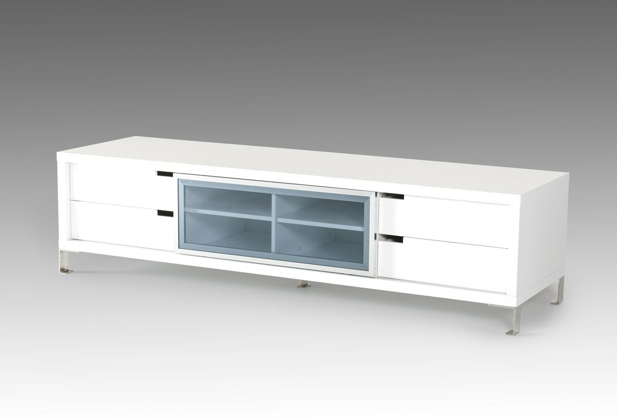 Contemporary black or white high gloss tv stand columbus White tv console