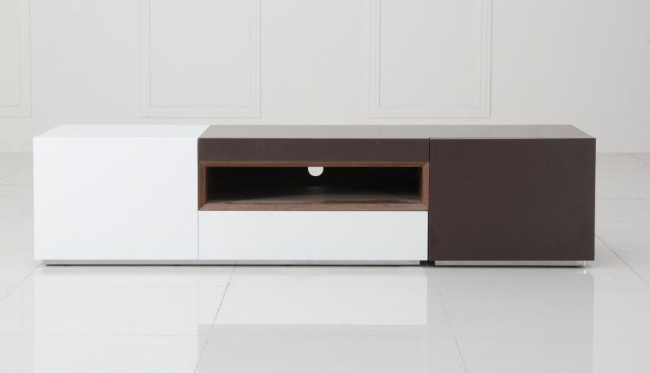 Contemporary 2 Tone TV Entertainment Unit Irvine  : v puzzle tvstand from www.primeclassicdesign.com size 939 x 540 jpeg 19kB