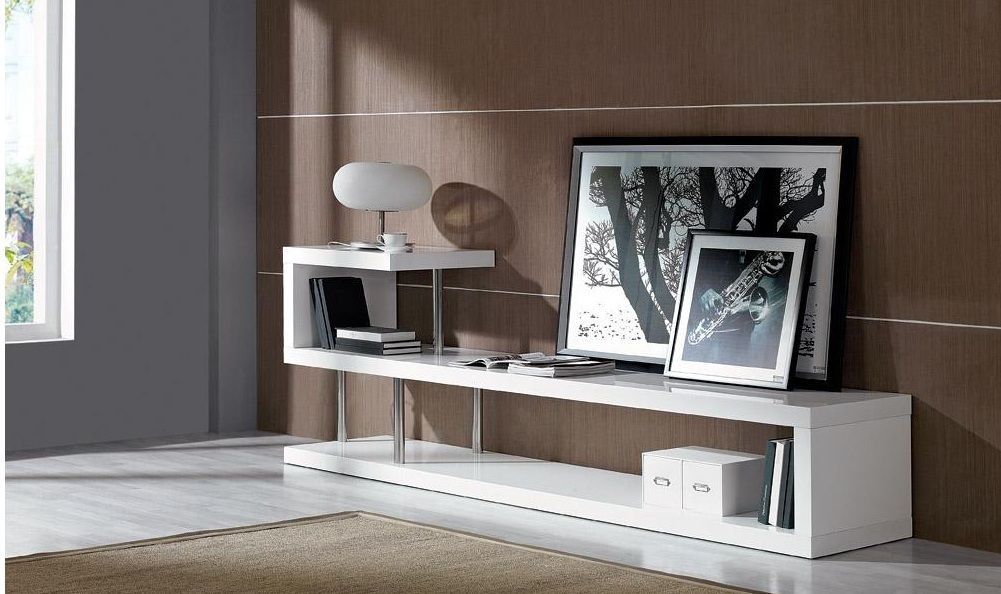 Contemporary White Lacquer Tv Stand Dayton Ohio Vwin5