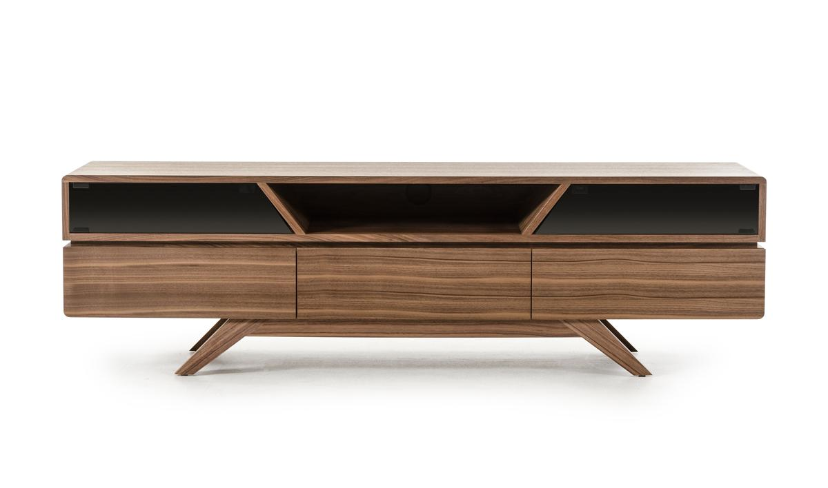Contemporary Walnut Tv Stand With Smoked Glass Doors P 6373 on Contemporary Bedroom Furniture In Florida