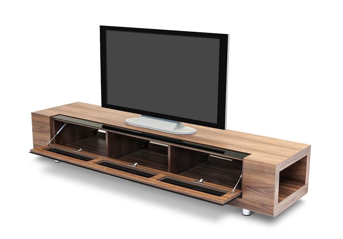 Long Lcd Tv Furniture With Storage In Walnut San Jose California. walnut large wood lcd tv furniture gbd005 jpg