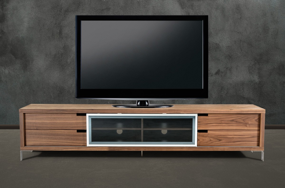 Walnut Tv Corner Console With Sliding Door San Antonio Texas Vig Edward