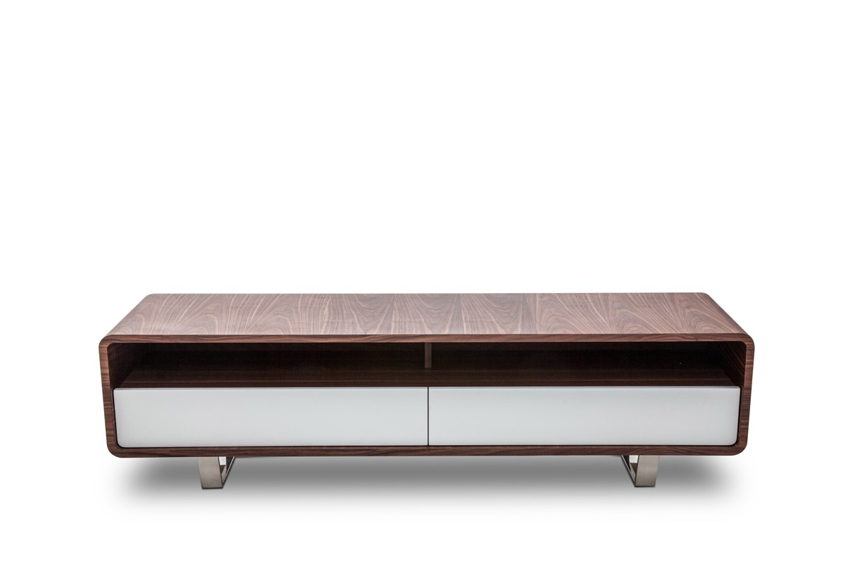 Fashionable tv base with two color options indianapolis for Table tv moderne
