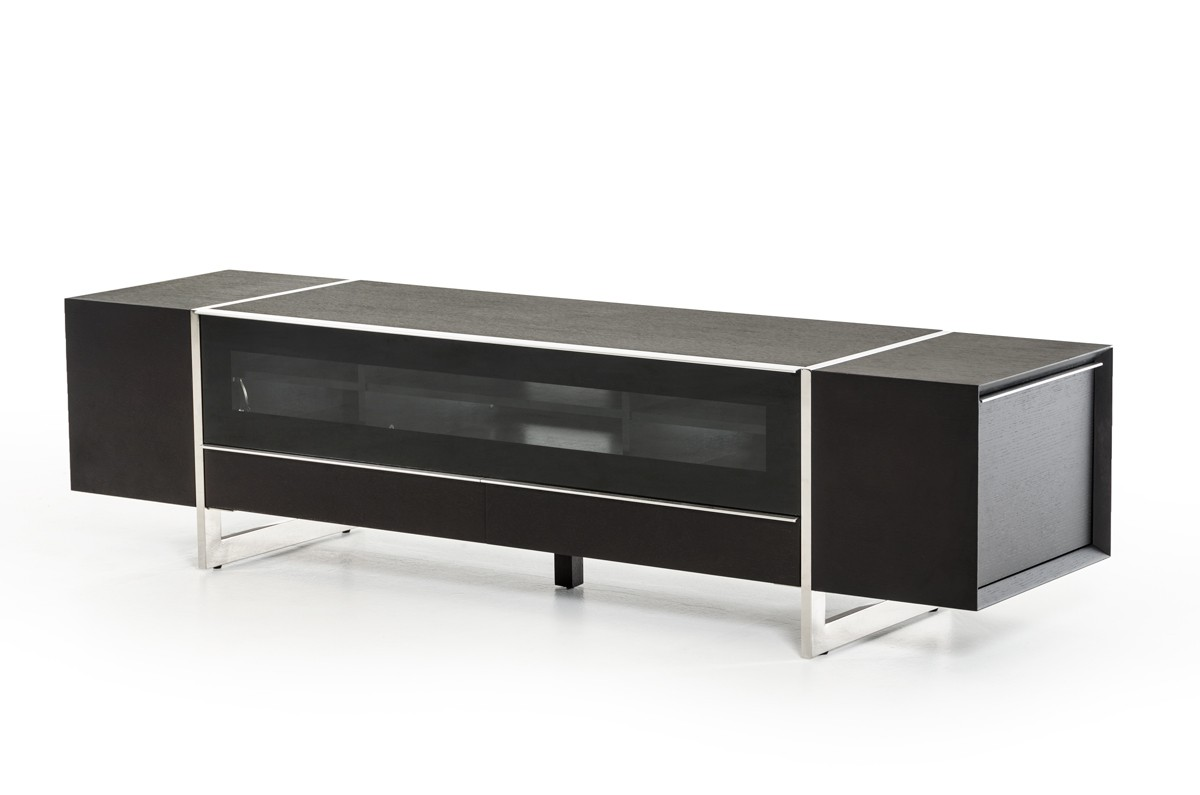 Plasma And LCD TV Stands, Stylish Accessories. Wenge Wood Grain Contemporary  Television Stand