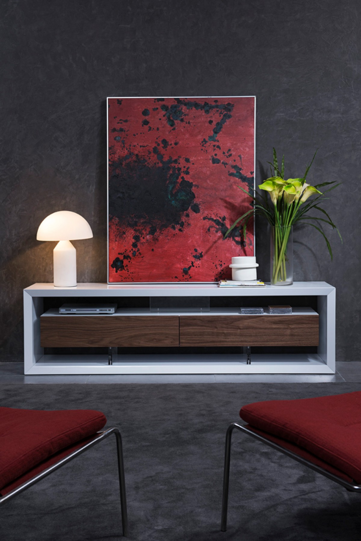 White lacquer modern flat screen tv stand with drawers san for White plasma tv stands