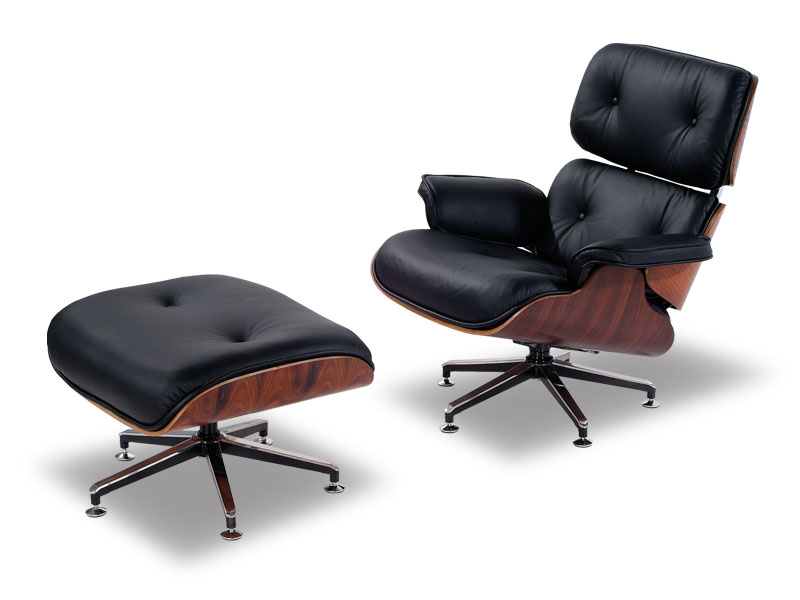 black leisure recliner eames chair lounge and ottoman baltimore