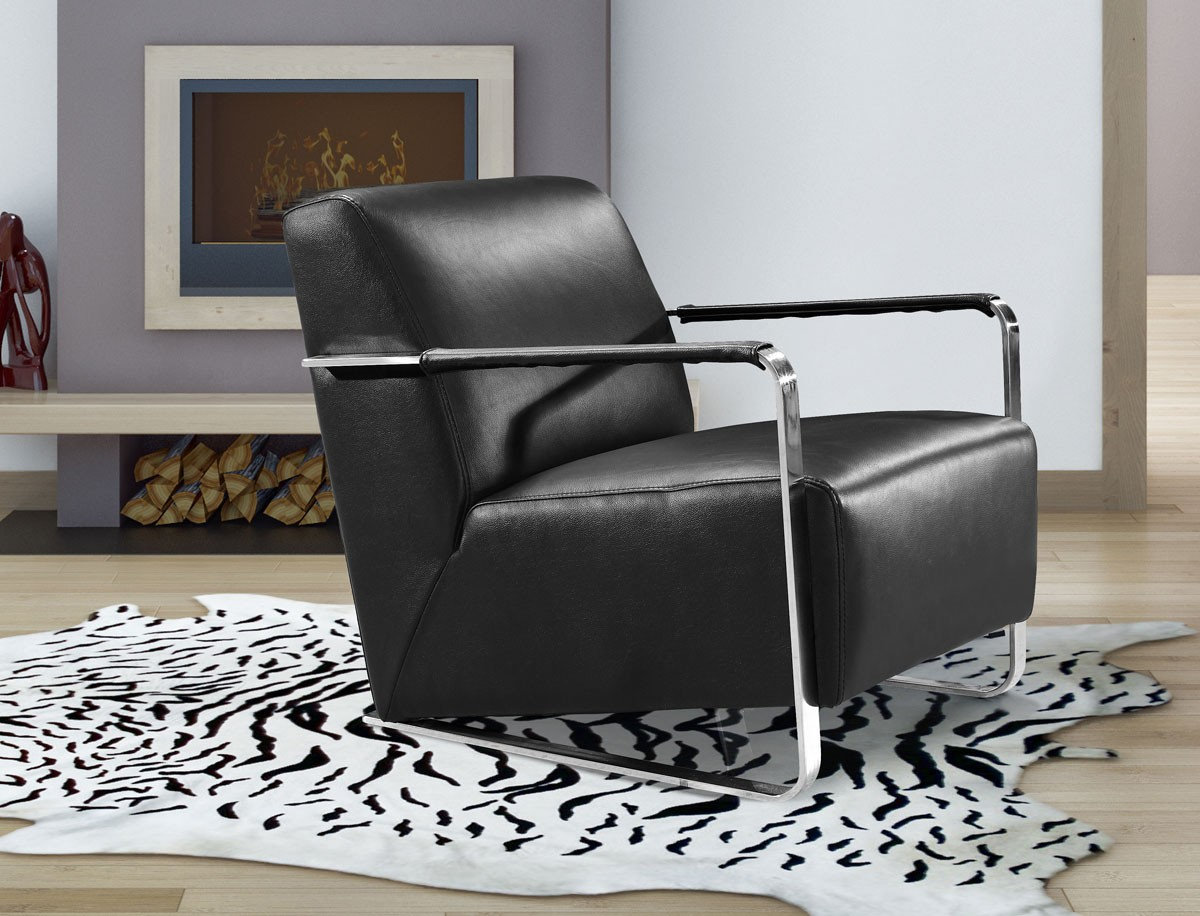 Lounge Chaises And Daybeds Stylish Accessories Modern Black Leather Low Profile Chair