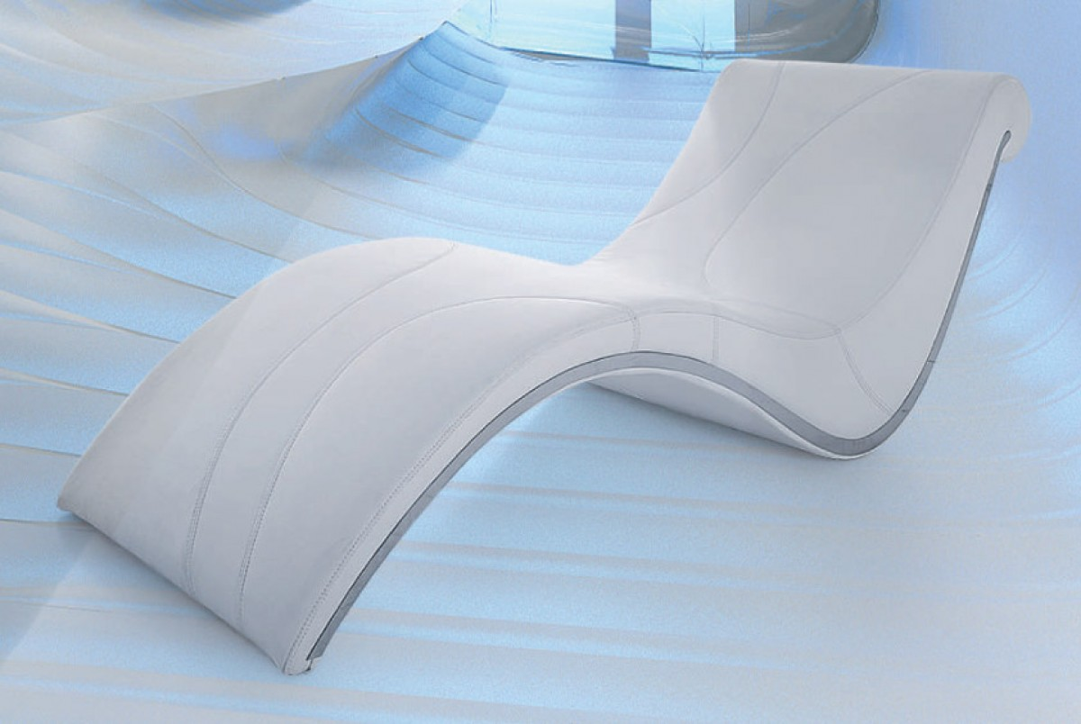 Modern White Leather Leisure Lounge Chaise Nashville