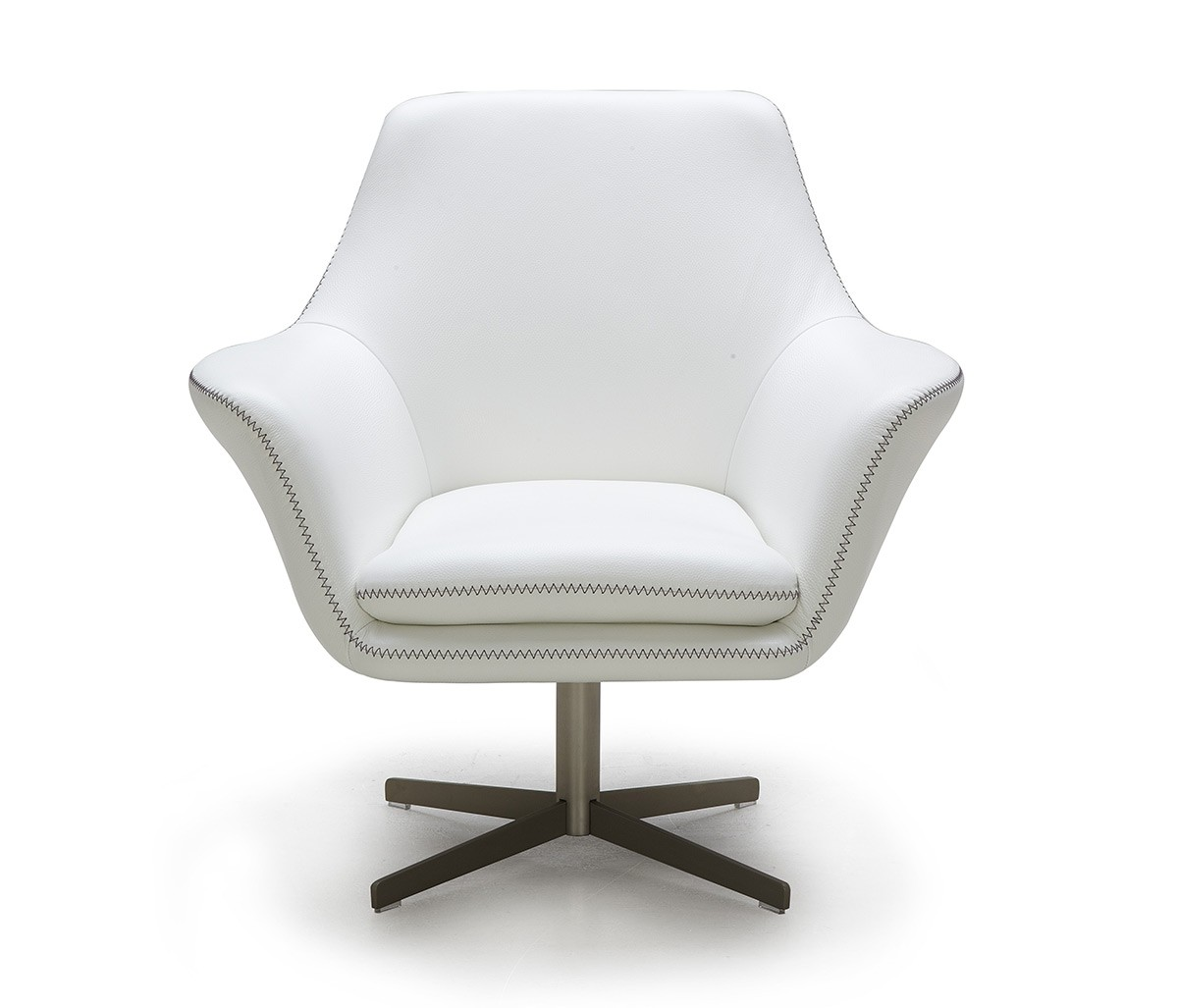 Lounge Chaises And Daybeds, Stylish Accessories. Modern White Leather  Swivel Lounge Chair