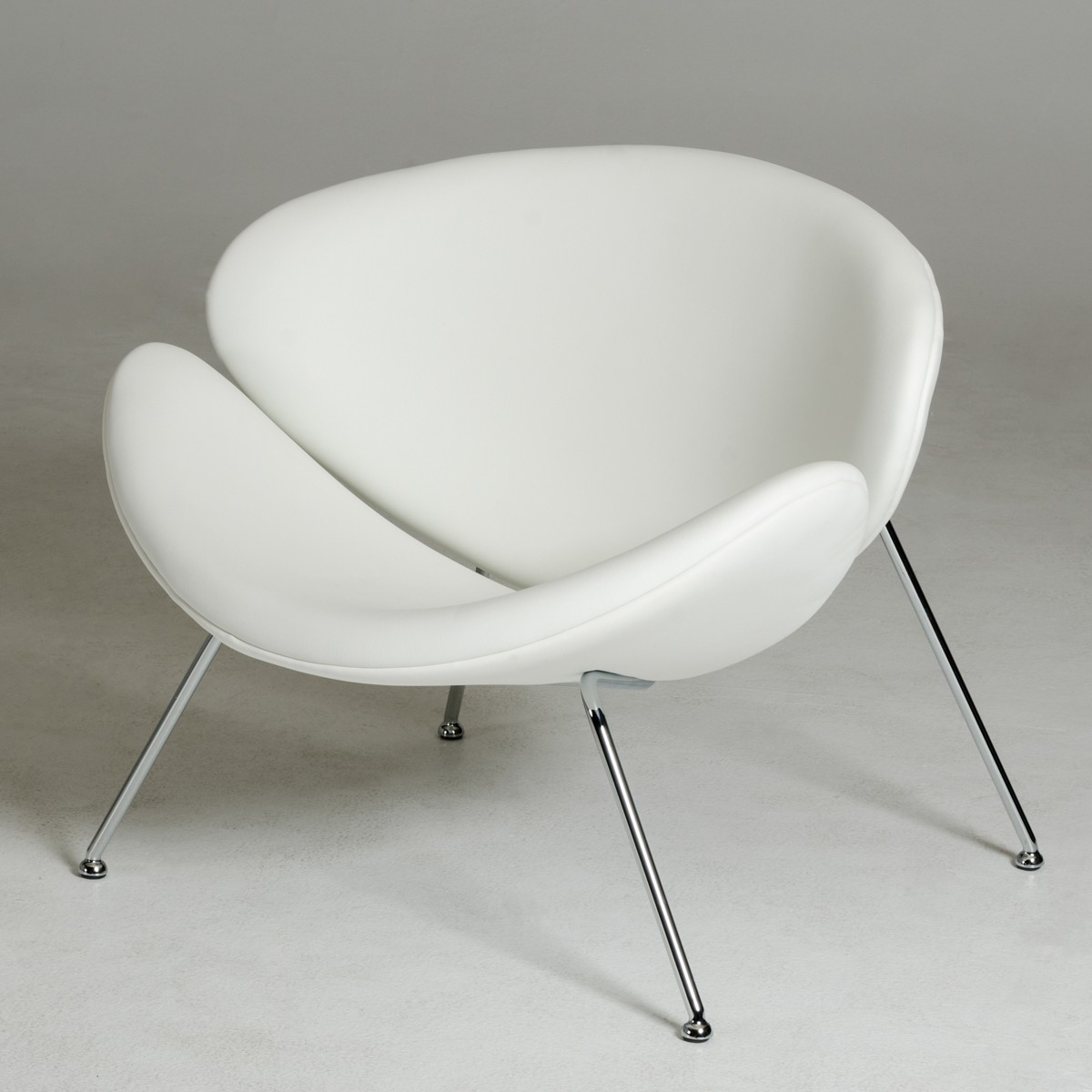 Furniture Legs Dallas Tx contemporary white leatherette stainless steel legs chair dallas