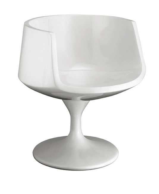 Cup Chair with Molded Seat and Swivel Base Eero Saarinen Style