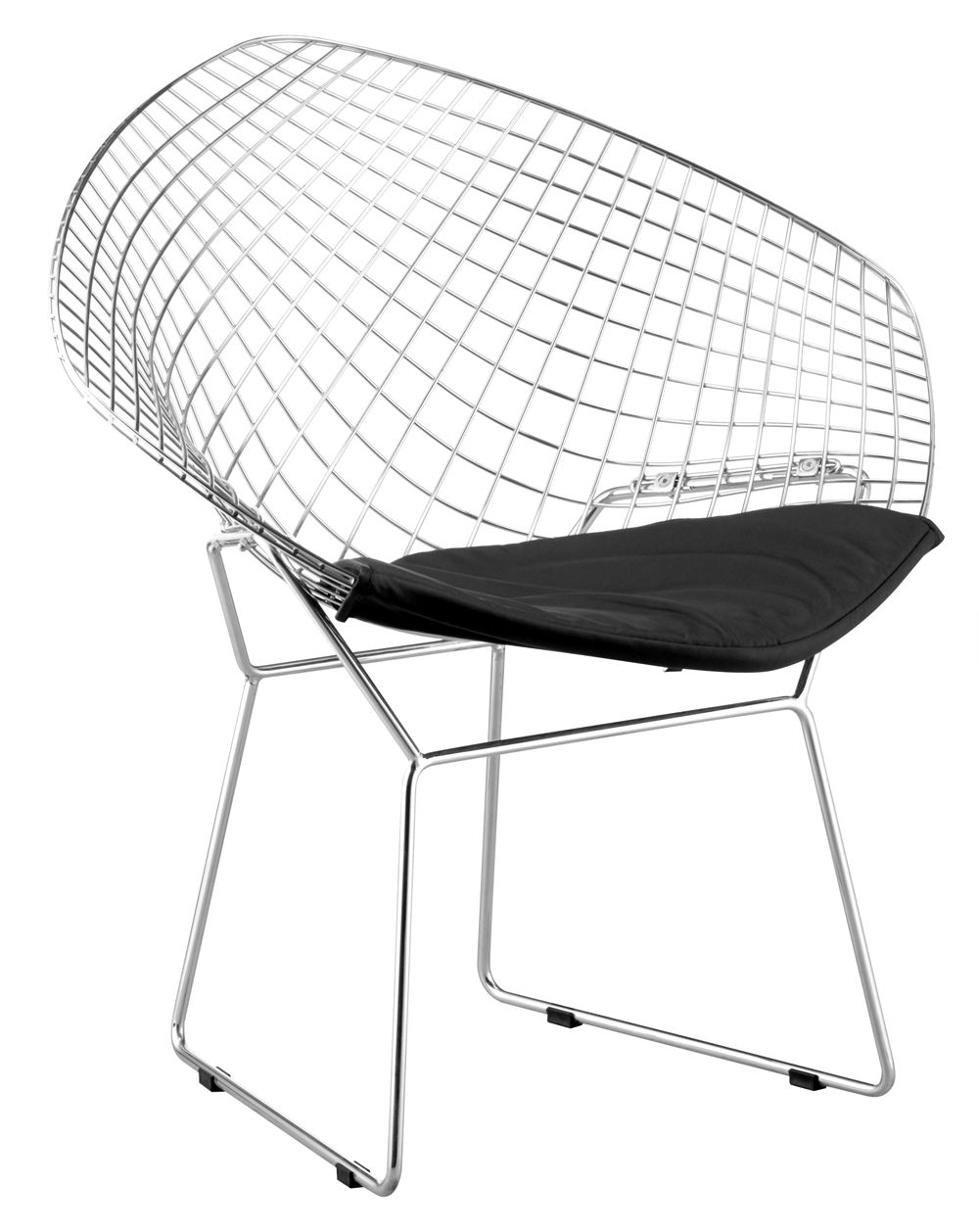 Solid Steel Net Chair In Black Or White With Leatherette