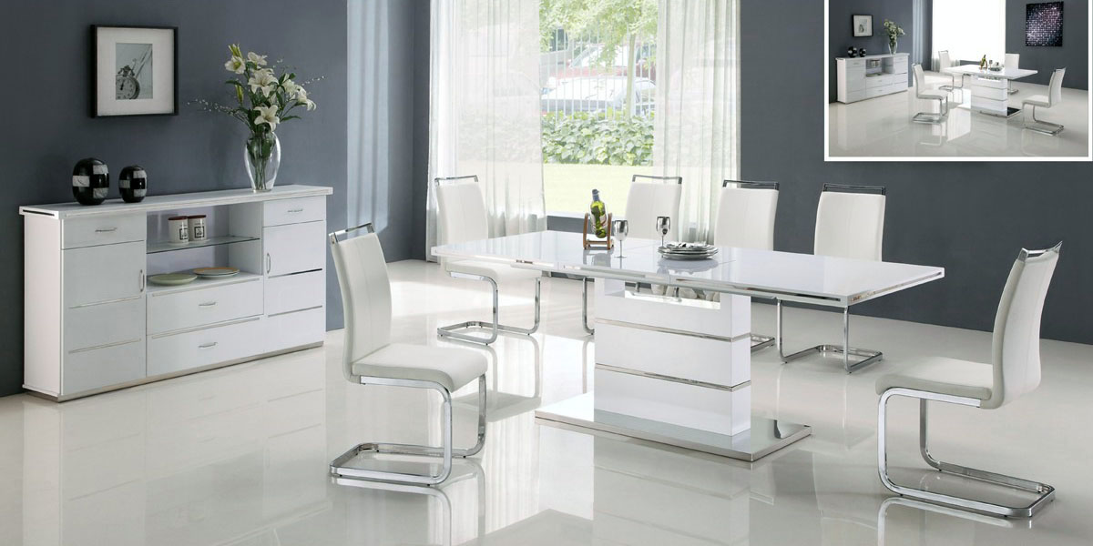 Modern White Dining Room Sets Interior Design