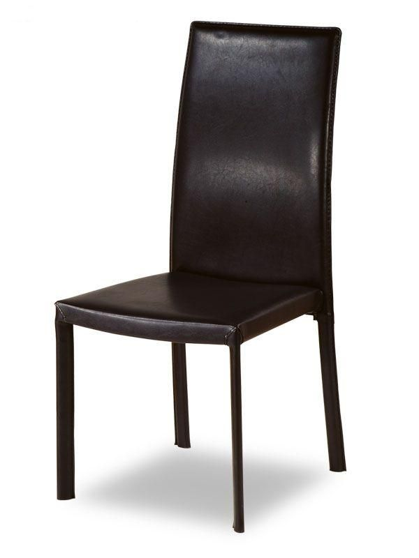 contemporary design leather kitchen chair with shoulders