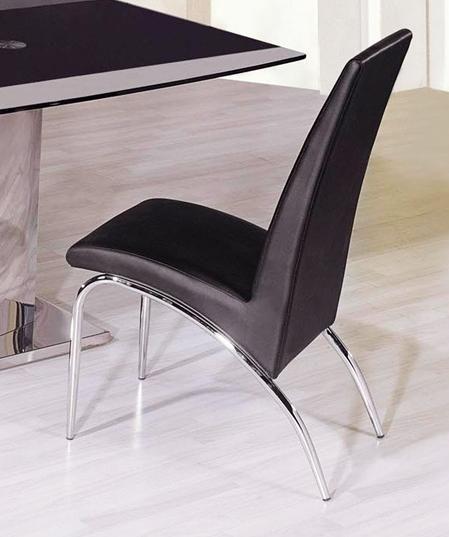 Xavier Leatherette Dining Chair Black: Black Leatherette Dining Chair 8741 Mesa Arizona AH8741