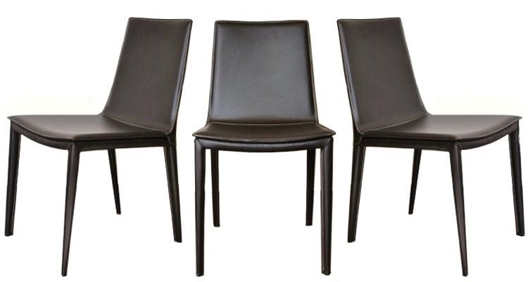 Tiffany leather chair with low back worcester for Modern low back dining chairs