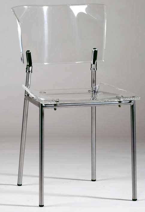 Offer Up Bakersfield >> Acrylic Side Chair with Clear Seat and Back and Metal Frame Bakersfield California CHACRYLIC