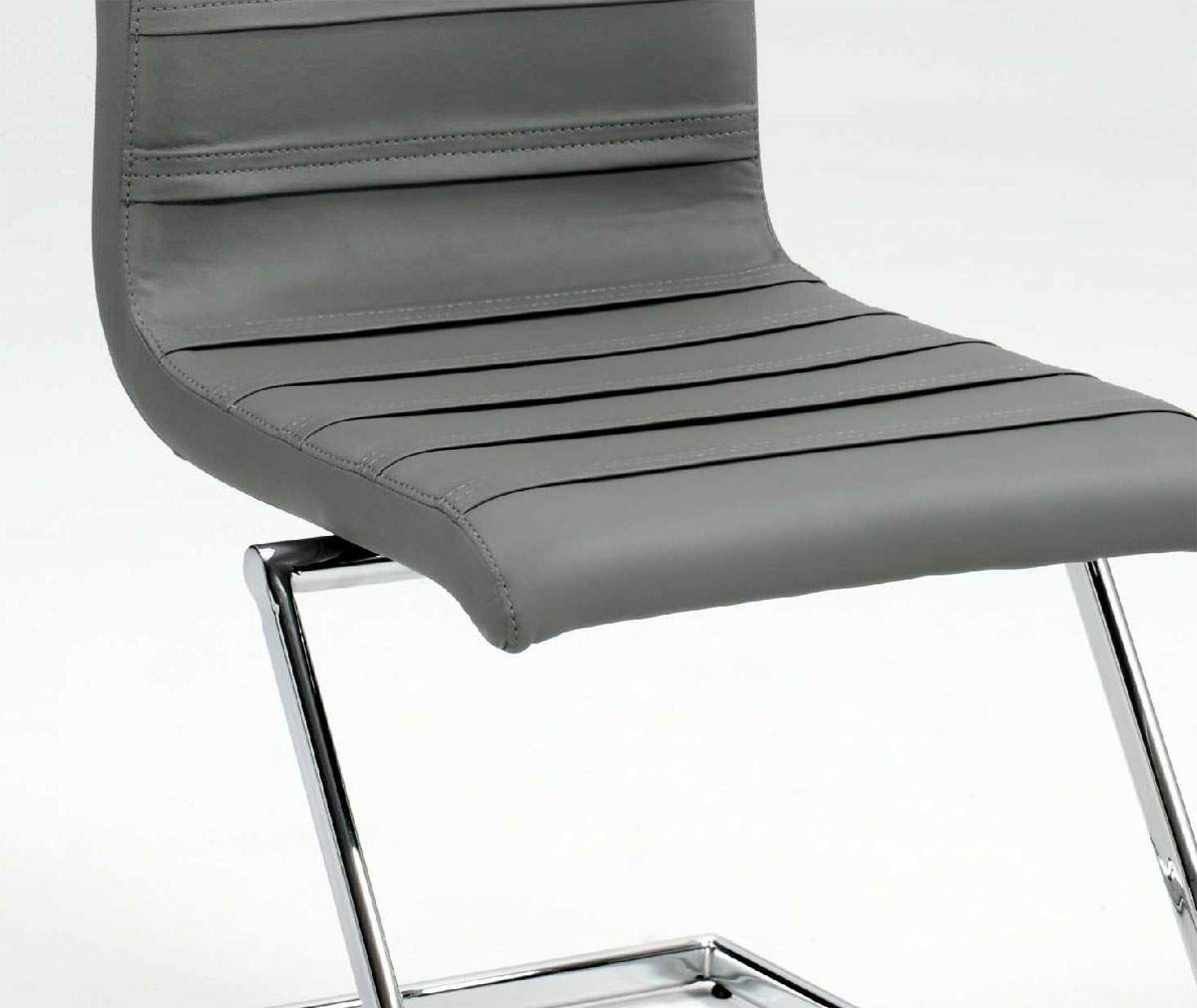 Contemporary Dark Grey Leather Dining Chair with Chrome Z  : ch janet grey leather chair01 from www.primeclassicdesign.com size 1200 x 1010 jpeg 74kB