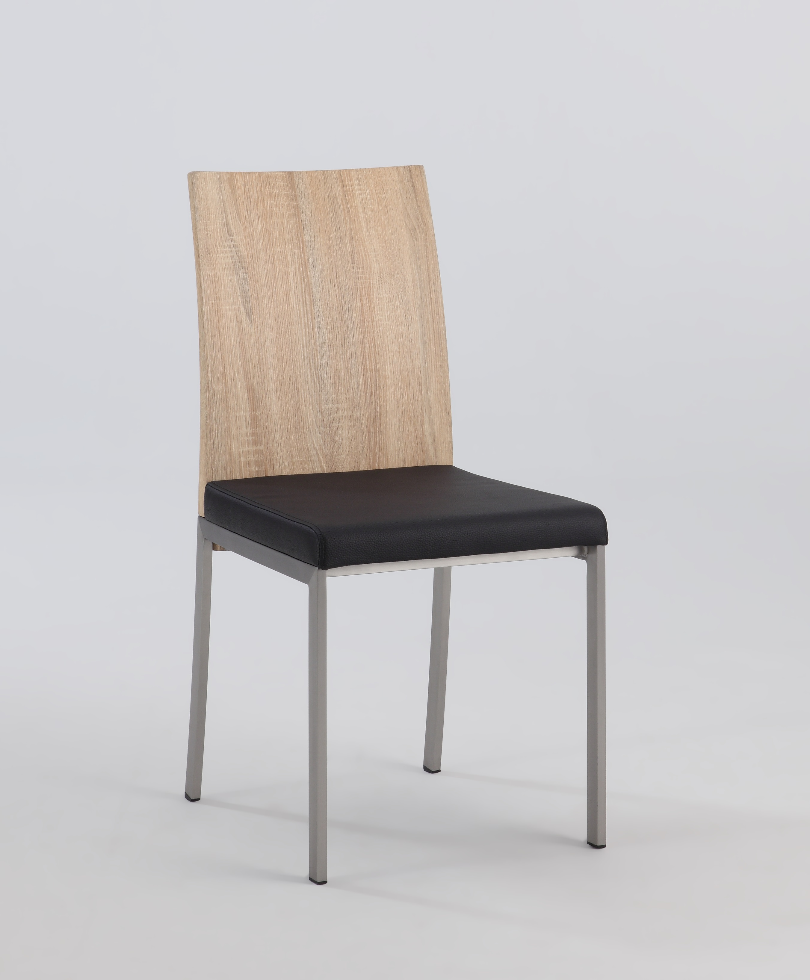 Light Oak Panel Back Side Chair With Black Upholstered Seat Los . Full resolution‎  portraiture, nominally Width 2704 Height 3272 pixels, portraiture with #856346.