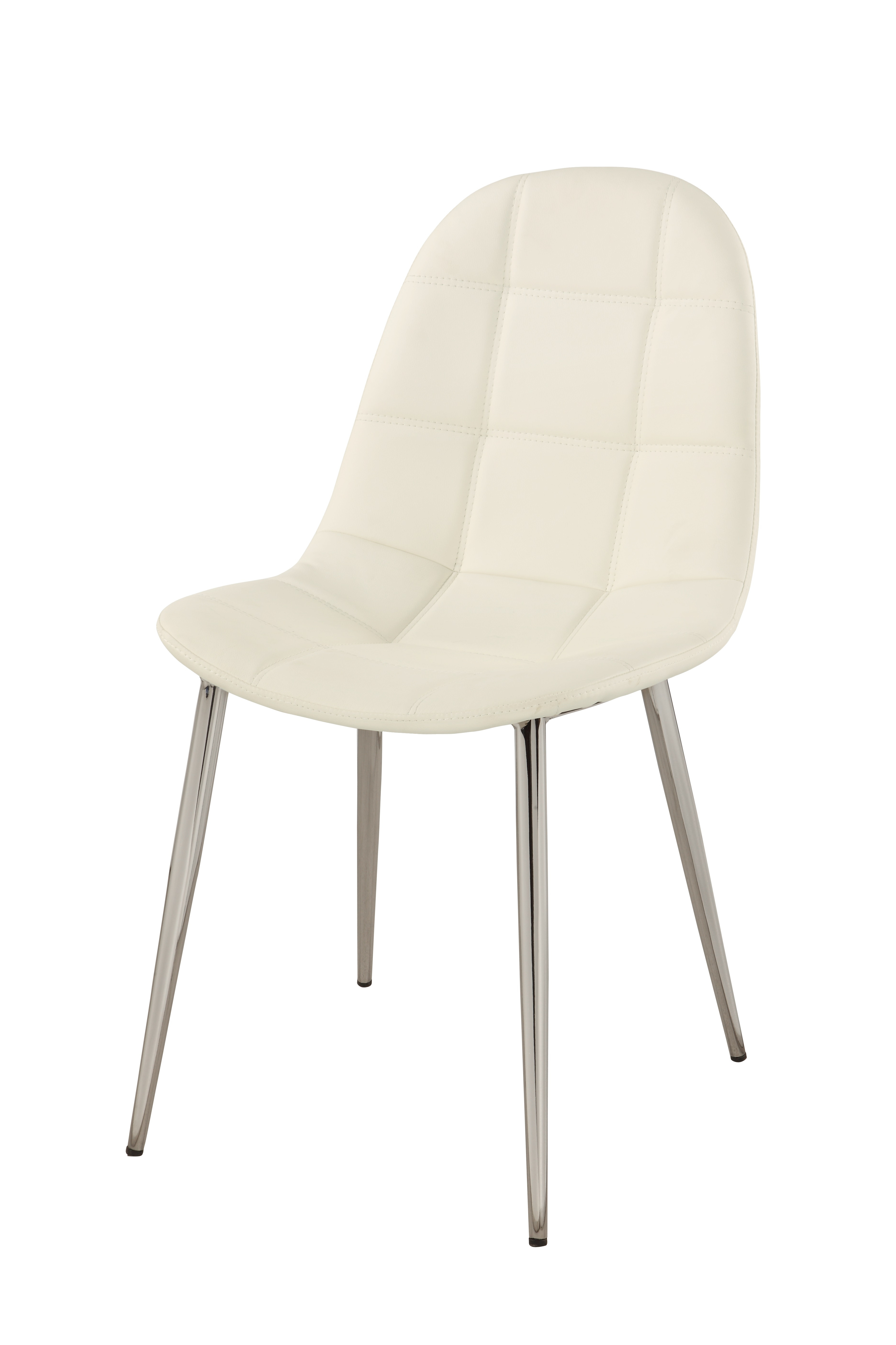 Contemporary White Upholstered Side Chair with Chrome Legs  : chdonna padded seat luxury chair from www.primeclassicdesign.com size 3744 x 5616 jpeg 775kB